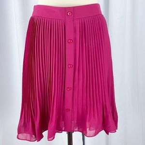 BCBG Accordion Pleat Chiffon A-line Mini Skirt